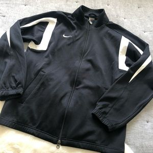Nike team full zip jacket black & white sz.M